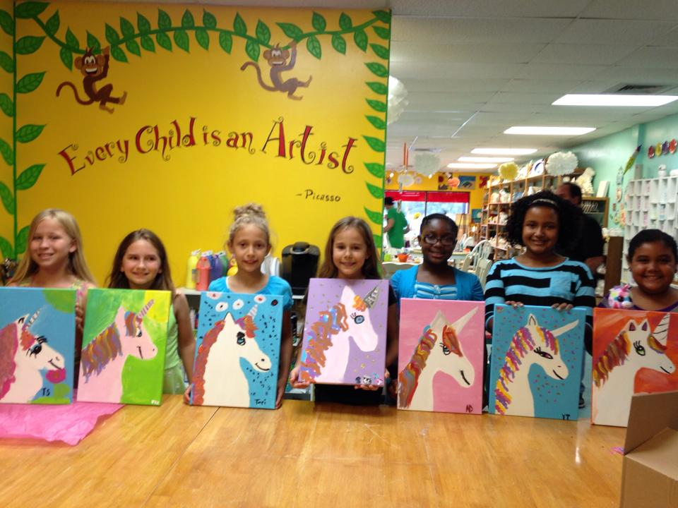 Birthday parties bisque it a fun art studio for Kids paint party