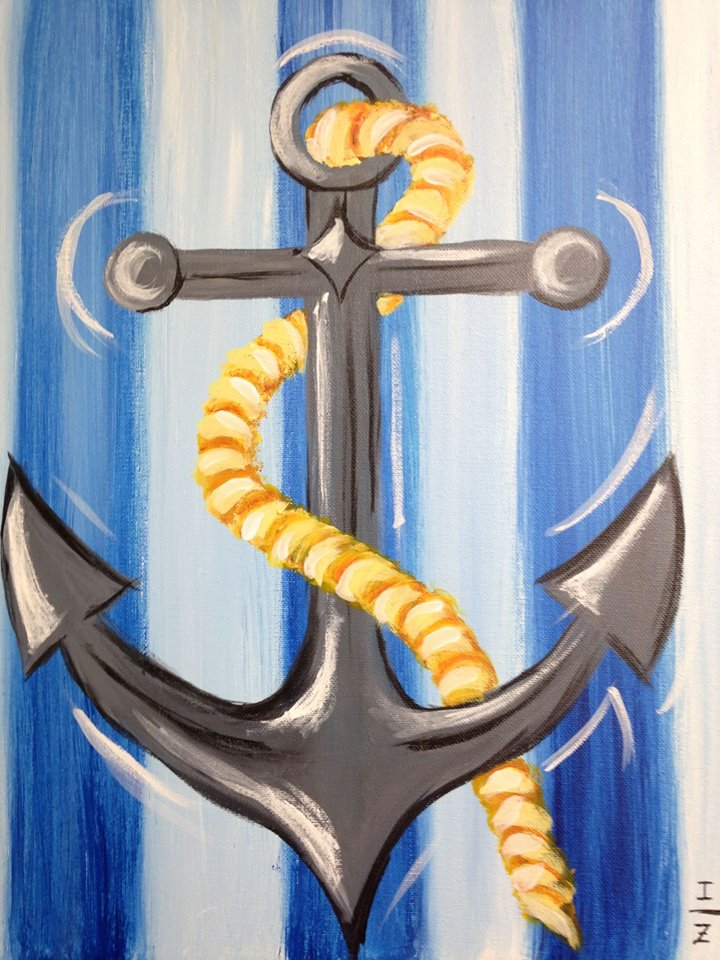 Painted Anchor Canvas