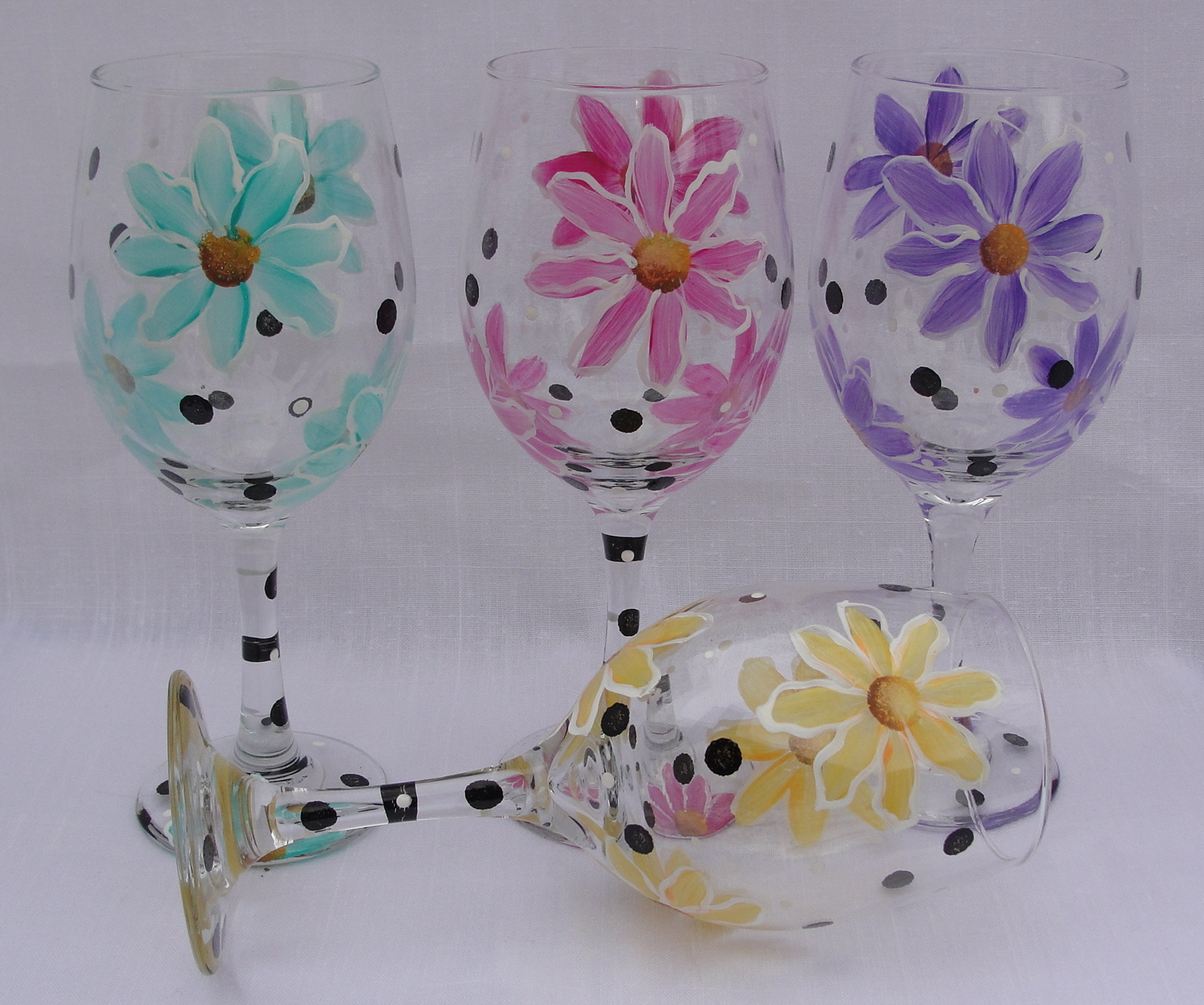 wine glass painting class bisque it a fun art studio - Wine Glass Design Ideas