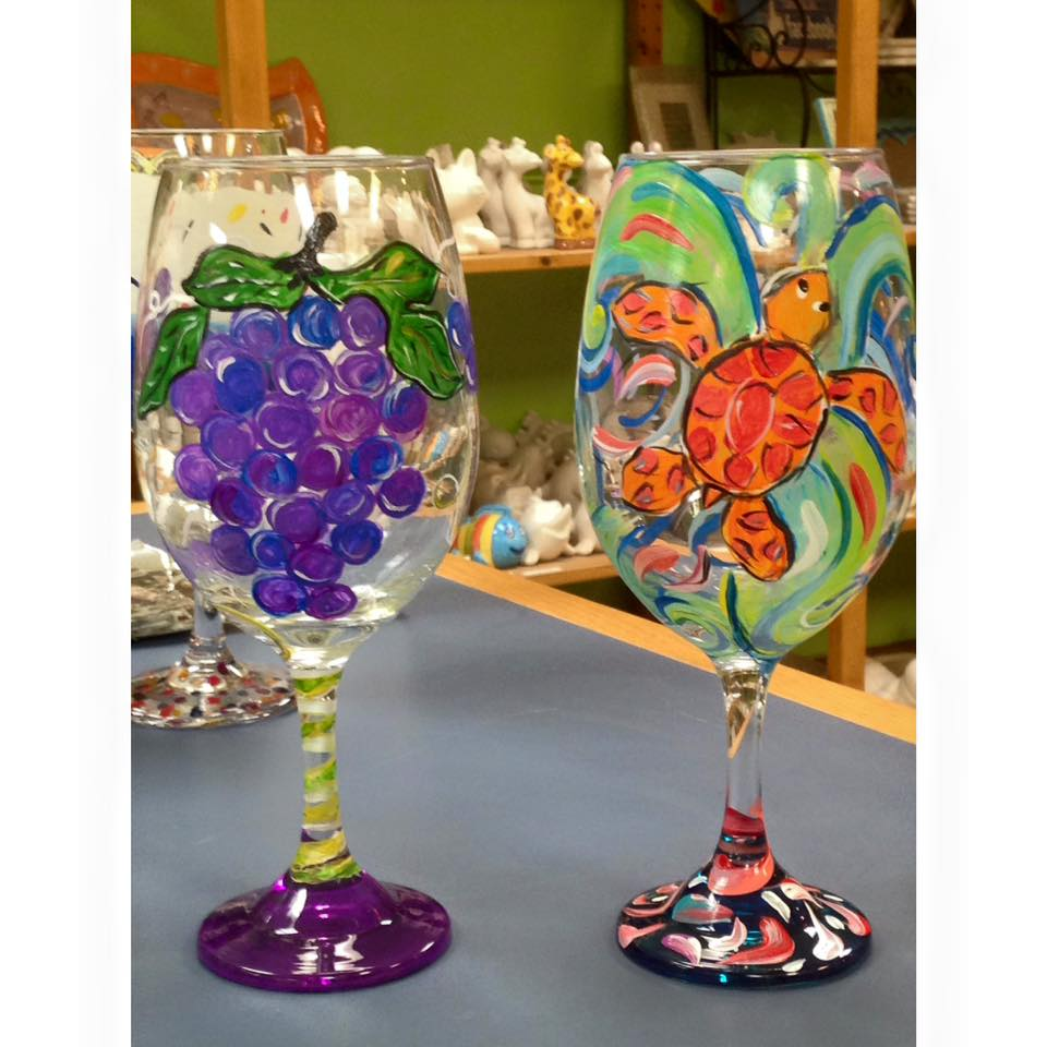 Wine glass painting class mafiamedia for Wine and paint san antonio