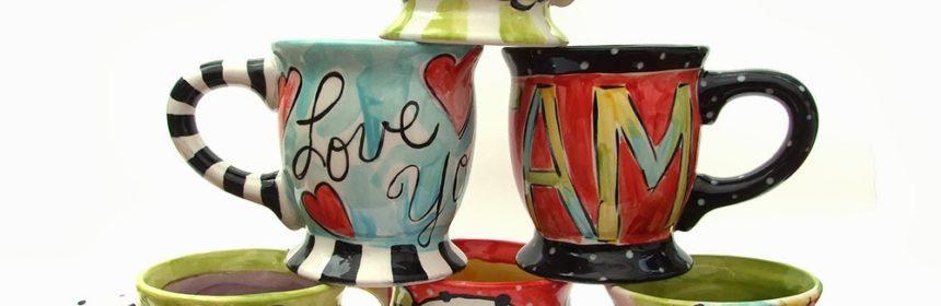 Handpainted ceramic mugs DSCF4809