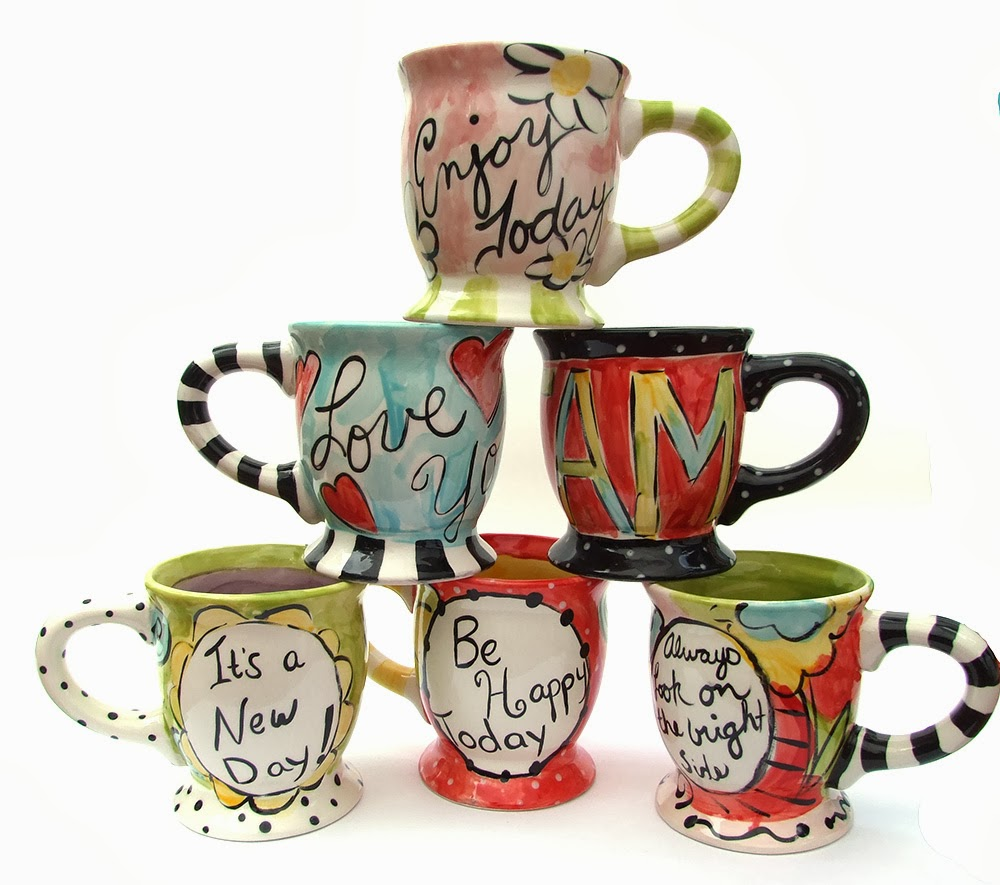 Mugs for cops painting bisque it a fun art studio for How to paint a mug